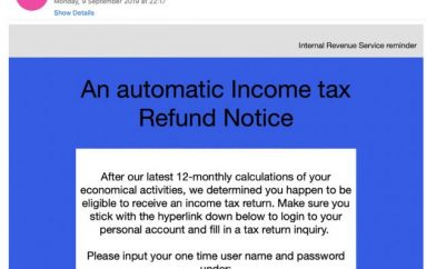 U.S. Taxpayers Hit by a Phishing Campaign Delivering the Amadey Bot