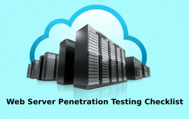 Most Important Web Server Penetration Testing Checklist