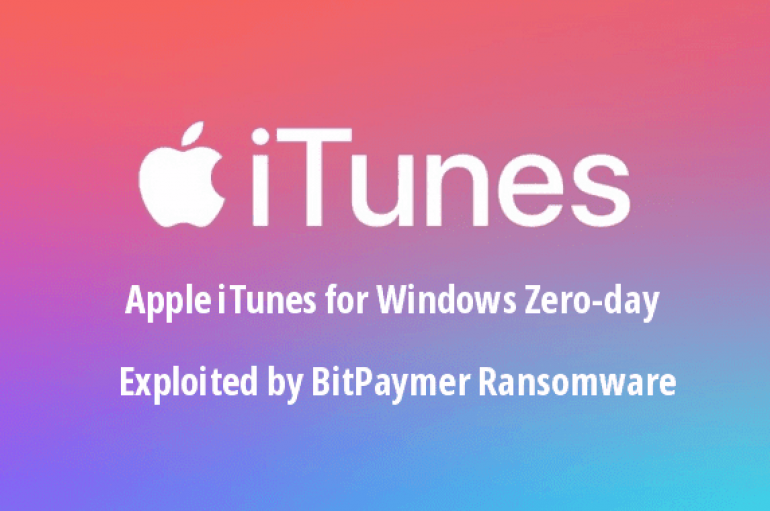 Apple iTunes for Windows Zero-day Exploited by BitPaymer Ransomware