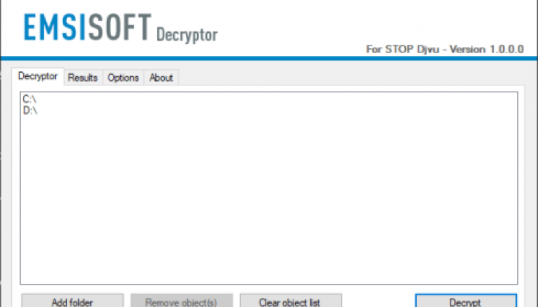 Emsisoft Released a Free Decryption Tool for the STOP (Djvu) Ransomware