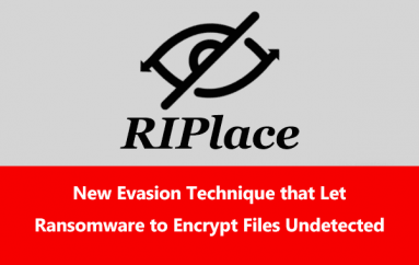 RIPlace – A New Evasion Technique that Let Ransomware to Encrypt Files Undetected