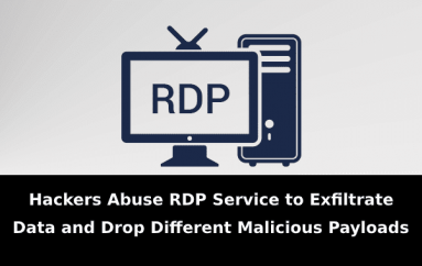 Hackers Abuse RDP Service to Exfiltrate Data and Drop Different Malicious Payloads