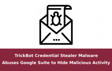 TrickBot Credential Stealer Malware Abuses Google Suite to Hide Malicious Activity