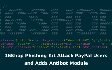 16Shop – Malware-as-a-service Phishing Toolkit Attack PayPal Users With Anti-Detection Techniques