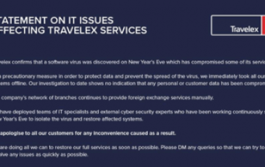 Travelex Currency Exchange Suspends Services After Malware Attack