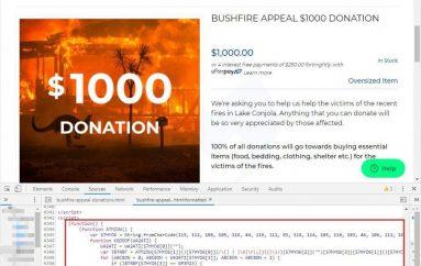 MageCart Attack Hit Australia Bushfire Donors
