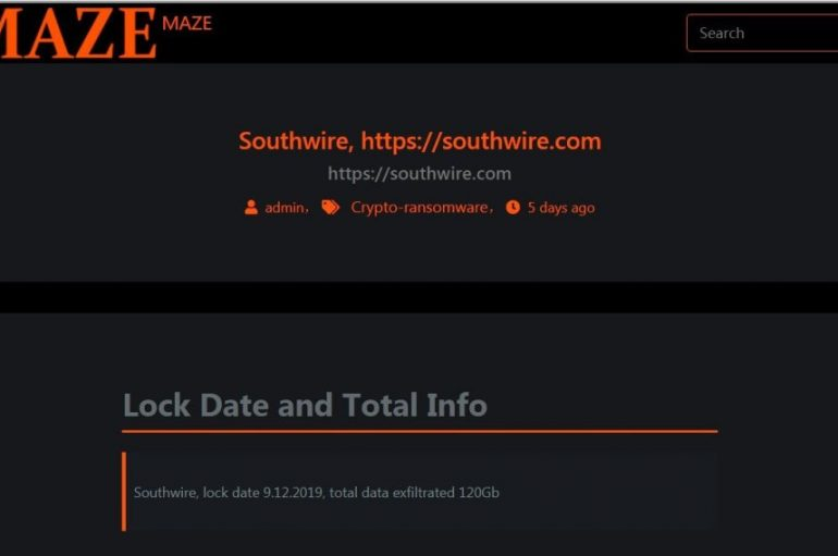 Maze Ransomware Operators Leak 14GB of Files Stolen from Southwire