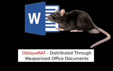 ObliqueRAT – A New RAT Malware Distributed Through Weaponized Office Documents Targeting Government Organizations