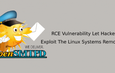 RCE Vulnerability in OpenSMTPD Mail Server Let Hackers Exploit The Linux Systems Remotely