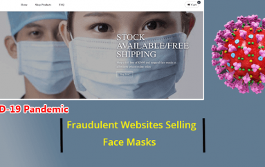 COVID-19 Pandemic – Beware of Fraudulent Websites Advertised Selling Face Masks