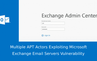 Multiple APT Actors Exploiting Microsoft Exchange Email Servers Vulnerability to Take Over the Server