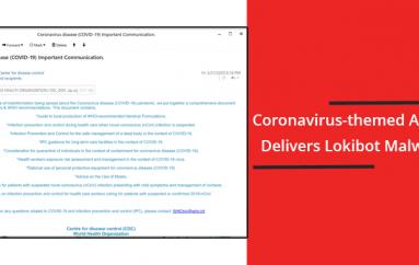 Beware of Coronavirus-themed Attack that Attacks Windows Computer to Install's Lokibot Malware