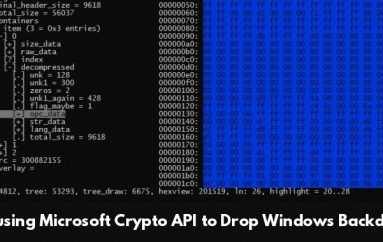 APT Hackers Abusing Microsoft Crypto API to Drop Backdoor on Windows Using Weaponized Shellcode