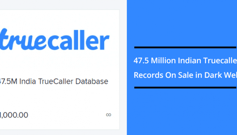Truecaller Data Breach – 47.5 Million Indian Truecaller Records On Sale in Dark Web