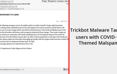 Trickbot Malware Campaign Targets Users with COVID-19 Themed Malspam