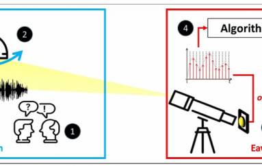 Lamphone: Spying on Conversations by Watching a Light Bulb in the Room