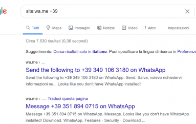 Google is Indexing the Phone Numbers of WhatsApp Users Raising Privacy Concerns