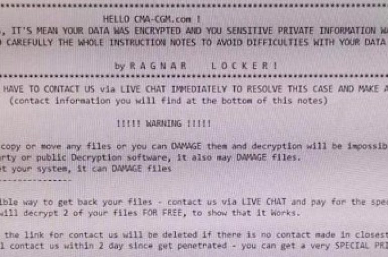 Maritime Transport and Logistics Giant CMA CGM Hit with Ransomware