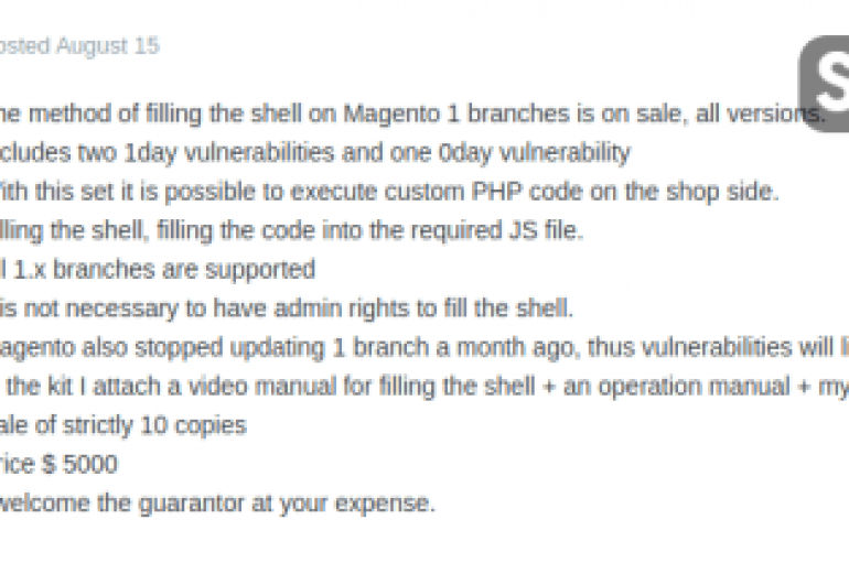 Thousands of Magento Stores Hacked in a Few Days in Largest-ever Skimming Campaign