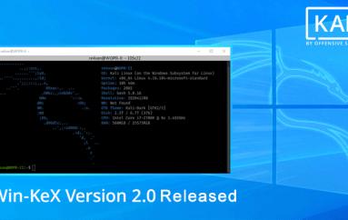Offensive Security released Win-KeX Version 2.0 that Brings Kali Desktop Experience in Windows